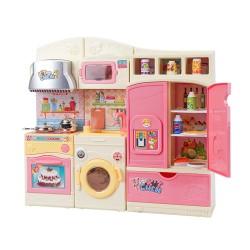 兒童仿真聲光廚房冰箱流理台廚具家家酒(C03)