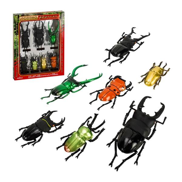 T760日版盒裝7入鍬形蟲仿真甲蟲模型組(ST)