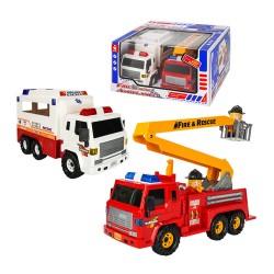 韓國進口消防雲梯車+救護車(ST品質保證)(大台仿真超會跑)
