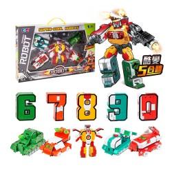 S002A數字變形積木機器人(每款2變/5款可大合1)(授權) (無法超商取貨)