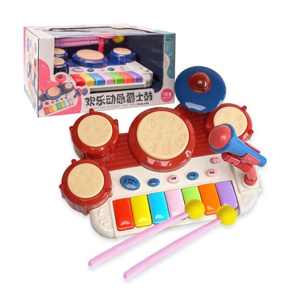 8802幼兒早教聲光動感爵士鼓電子琴(兒歌/故事/音樂)