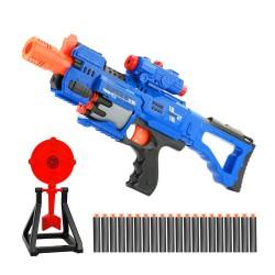 10發裝子彈自動連發安全軟彈槍組(大支)(電動連發+20發子彈+標靶)(013A) (無法超商取貨)