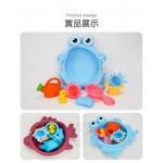 動物造型臉盆7件式花灑洗澡玩具(安全塑料顏色隨機)