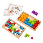 木框盒益智解題拼圖板(120關)