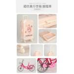 精緻大小姐妹娃娃家家酒組(手腳頭可動)(附行李箱+單車)(2030) (無法超商取貨)