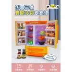 WT.DUCK 仿真三層雙開冰箱組家家酒(模擬冷藏霧氣效果)(授權)(174) (無法超商取貨)
