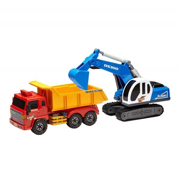 韓國進口砂石大卡車+大怪手(ST玩具百貨公司貨品質保證)