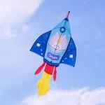 火箭造型彩色風箏(80*279)(全配/附150米輪盤線) (無法超商取貨)