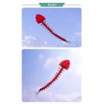 7米長大紅蜈蚣造型風箏(全配/附150米輪盤線) (無法超商取貨)