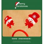 雙彈簧聖誕造型髮箍(大人小孩皆可戴)(多款隨機)