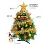 60公分(大金色系)高級松針聖誕樹(配件+LED40燈暖白燈串附電池)