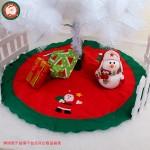 綠邊紅底聖誕樹裙(不織布拼布)(直徑90公分)(圖案隨機)