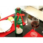 聖誕亮片裝飾紅酒瓶套(香檳酒套)(多款可以挑選)(居家餐廳佈置)