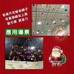 6公分吊頂佈置聖誕彩球(附透明線+掛勾)(多色混合)(48顆裝)
