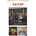 白色聖誕雪人吊飾(868)(60X90)無痕窗貼玻璃貼 (無法超商取貨)
