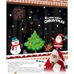 歡樂聖誕老公公雪人麋鹿(872)(60X90)無痕窗貼玻璃貼 (無法超商取貨)