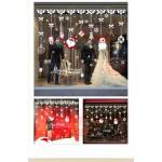 白色聖誕雪花吊飾球(92029)(60X90)無痕窗貼玻璃貼