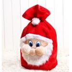 高級聖誕老公公造型絨毛禮物袋(47*35)