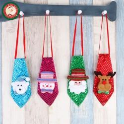 聖誕造型發光可愛小領帶(附電池)(多款挑選)(舞會派對裝飾)(大人小孩皆可戴)