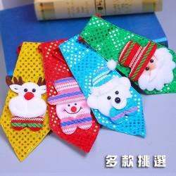 聖誕造型可愛小領帶(舞會派對裝飾)(大人小孩皆可戴)