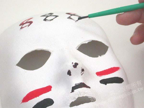 环保纸浆人脸彩绘面具(有耳洞)