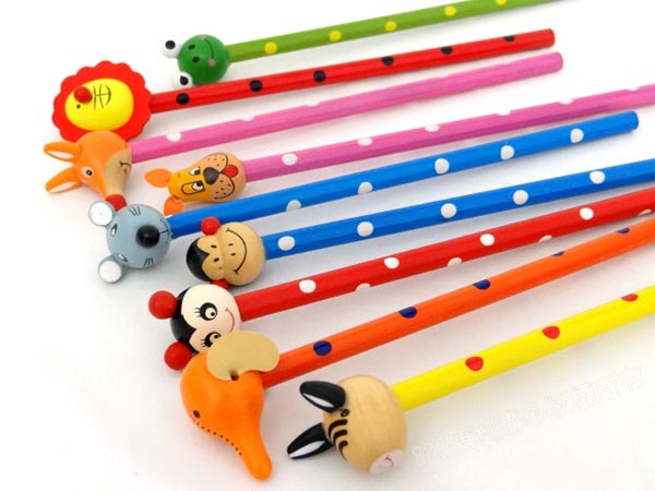 立体动物造型木头铅笔(多款随机)