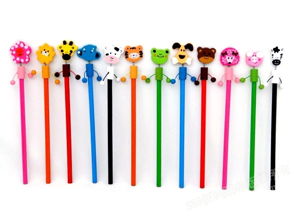 平面动物造型木头铅笔(多款随机)